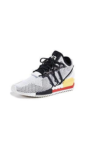 Y-3 Women\'s Harigane Sneakers, White/Black/Red, 7 M UK