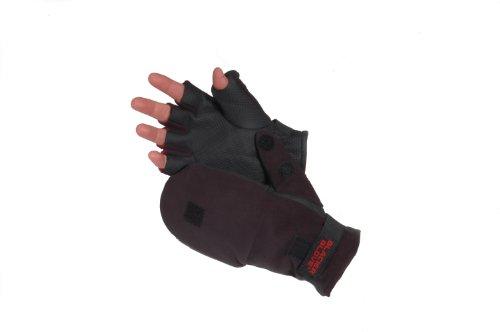 Glacier Glove Alaska River Flip-Mitt Fishing Glove (Black, Medium) Flip Mitt