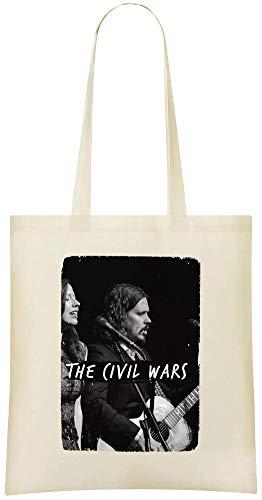 Das Konzert der Bürgerkriege - The Civil Wars Concert Custom Printed Grocery Tote Bag - 100% Soft Cotton - Eco-Friendly & Stylish Handbag For Everyday Use - Custom Shoulder Bags