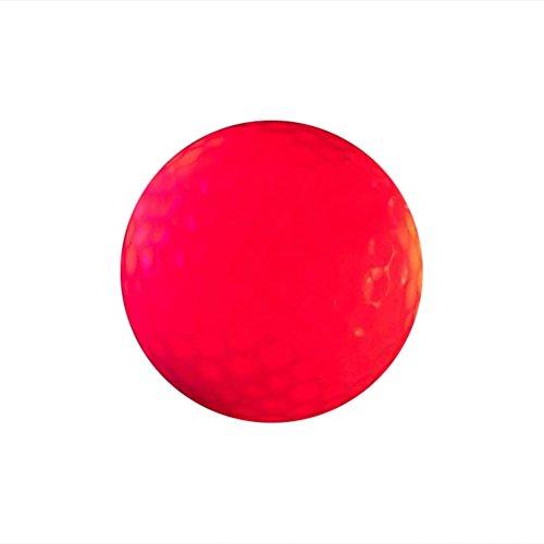 VORCOOL Leuchtende Nacht Golfbälle LED leuchten Golfbälle wiederverwendbare Nacht Golfball (rot)