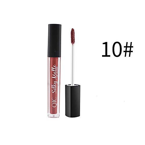 masrin Make-up Samt Lippenstift braun Nude Farbe Schokolade flüssigen Lippenstift Lipgloss Matte...