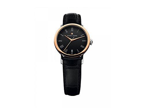 Maurice Lacroix Les Classiques Ladies Automatic Watch, 18Kt Rose gold, Black