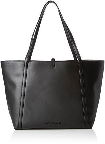 Armani Exchange Damen Eco Leather Tote Bag, Schwarz (Nero), 28.0x12.0x49.0 cm