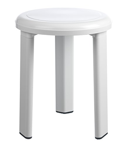 Toyma 535 Tabouret de Bain Blanc 40 x 32,5 cm