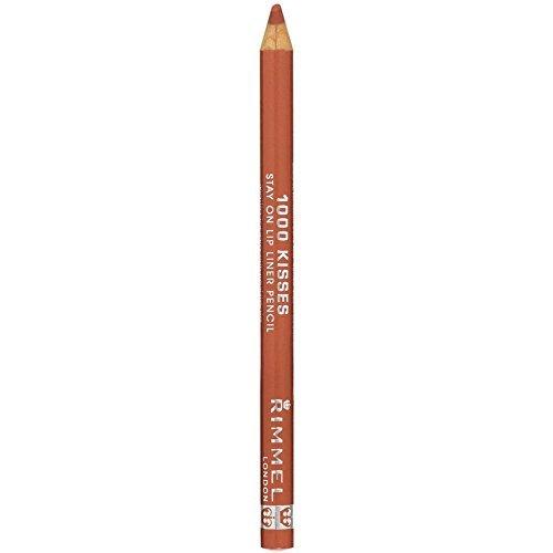 Rimmel Crayon contour des lèvres 1000 Kisses - Tracé précis et régulier, intense en couleur - Longue tenue - Coloris Nude (Ensemble de 3)