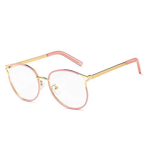 YMTP Frauen Optische Gläser Rahmen Designer Brillenfassungen Frauen Transparente Gläser Klassische Retro Klare Linse Nerd Rahmen, Rosa