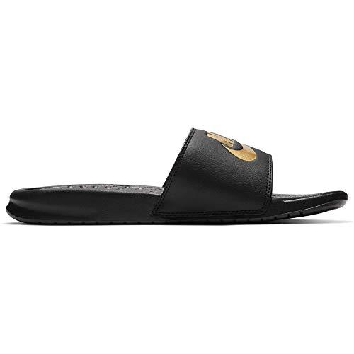Nike Benassi JDI, Slide Sandal Mens, Black/Metallic Gold, 45 EU