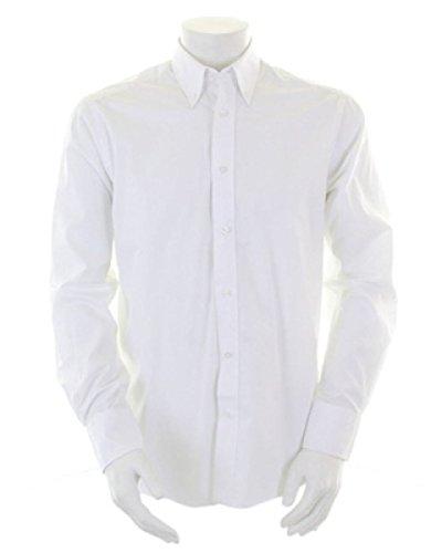 Kustom Kit Homme City Manches Longues Chemise Business[KK386] Blanc