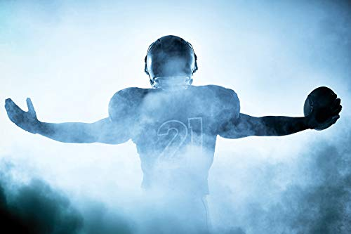 Postereck - Poster 1523 - Football Spieler, NFL Nebel Sport Amerika USA Rugby Größe 3:2-91.0 cm x 61.0 cm