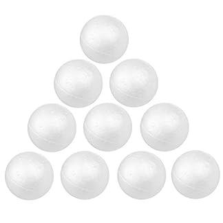 Ogquaton 10pcs 8cm Decoración Blanca Artesanía de Modelado Bolas de Espuma de poliestireno Esferas Papelería Suministros de Oficina