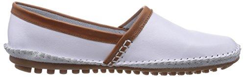 Marc Shoes  1.645.05-08/226-Luna, Mocassins pour femme Blanc - Weiß (white-cognac 226)