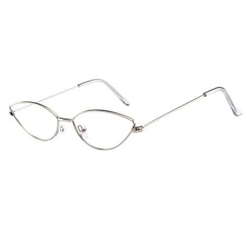 Dragon868 Sonnenbrille Damen Herren Cateye Kleine Rahmen Oval Retro Vintage Sonnenbrille Brillen (D)