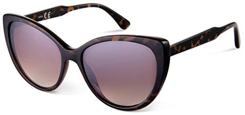 JAVIOL Katzenauge Sonnenbrille Herren Damen Retro Cateye Sonnenbrille UV400