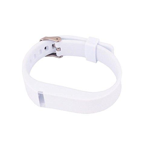 bescita Ersatz Armband mit Metall Schnalle kompatibel mit Fitbit Flex Armband Wristband (Weiß)