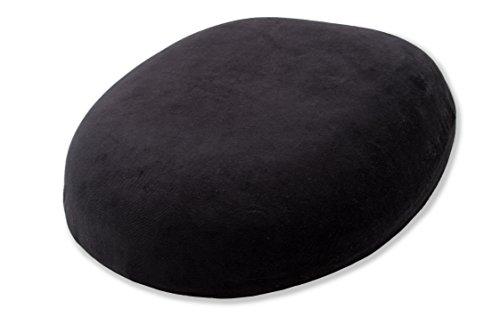 ZOLLNER ovaler Sitzring aus Polyurethan Schaum / Sitzkissen mit Loch / Hämorrhoidenkissen, ca. 43x44 cm, ca. 8 cm hoch und abnehmbarem Bezug, schwarz, direkt vom...