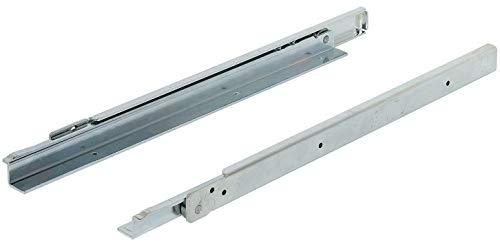 uszug Schwerlast Rollenführung Teilauszug 1000 mm Schubladen-Schiene aufliegende Montage | FR206 | Tragkraft 100 kg | Stahl verzinkt | 1 Paar - Auszüge für Küchenschränke ()