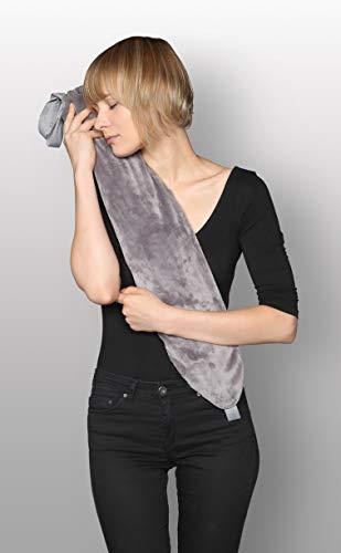 Kanguru 1121George Moon, Lange Wärmflasche mit Kleiner Tasche, Gummi/PVC/Polyester, grau 72x 12x 2cm