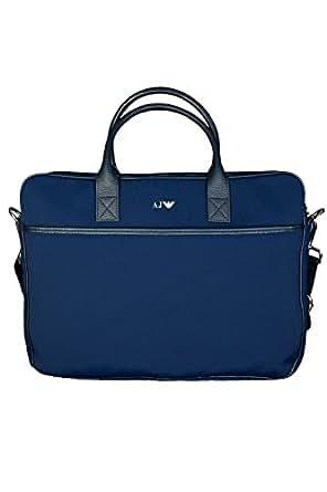 Armani Men's Shoulder Bag Blue Navy blue
