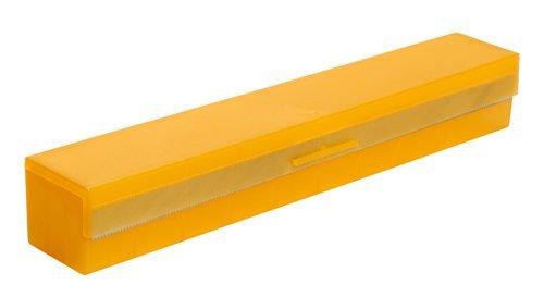 Folienschneider Abroller für Alufolie Backpapier Frischhaltefolie in orange