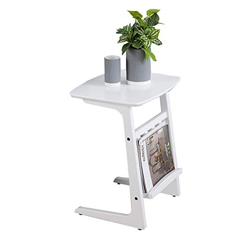 HYLH Side Tables,Tables Side Table Living Room End Table Coffee Table Laptop Stand Bedside Sofa Couch Nursing Table (Color : White, Size : 45 * 38 * 54cm) -