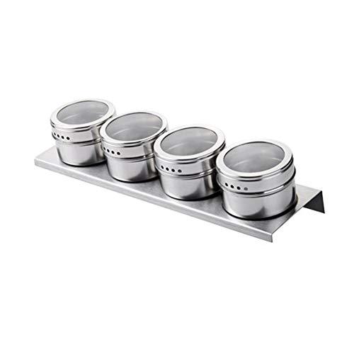 Vasi per condimenti in acciaio inossidabile barattoli di spezie magnetiche con 2 porte di scarico contenitori di stoccaggio per condimenti ermetici per la casa