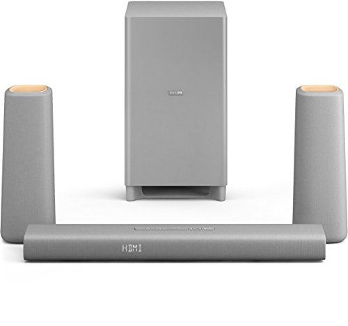 Philips Zenit Home Cinéma 3.1 avec Bluetooth & NFC, HDMI ARC, caisson de basses sans fil, HDMI 4K,...