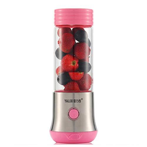 ERKEJI Batidoras de vaso Mini licuadora recargable portátil del Juicer del USB con 6 cuchillas 380ml...