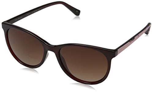 Ted Baker Damen Lyric Sonnenbrille, Rot (Burgundy/Brown), 54.0