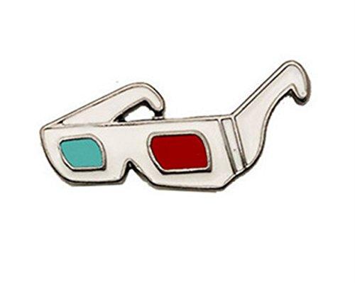 Broschen für Frauen Kleidung Dekoration Schmuck Cartoon coole Sonnenbrille Brosche Abzeichen Button Badge (bunt)