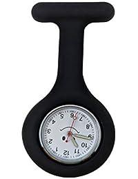 Silicone Soft Nurse/Doctor Medical Watch Fob (Black)