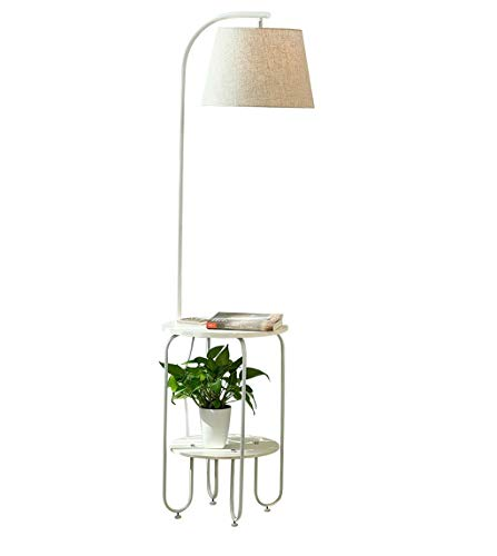 Eisen Stehleuchte |Moderne Stehlampe im minimalistischen Stil mit kleinem Tisch und USB-Schnittstelle |für Wohnzimmer Schlafzimmer Arbeitszimmer 40X160cm lesen -