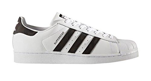 adidas Superstar, Sneaker Uomo Bianco (Footwear White/Core Black/Footwear White)