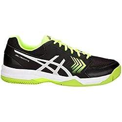 Asics Gel-Dedicate 5 Clay, Zapatillas de Tenis para Hombre, (Black/Flash Yellow 001), 44.5 EU