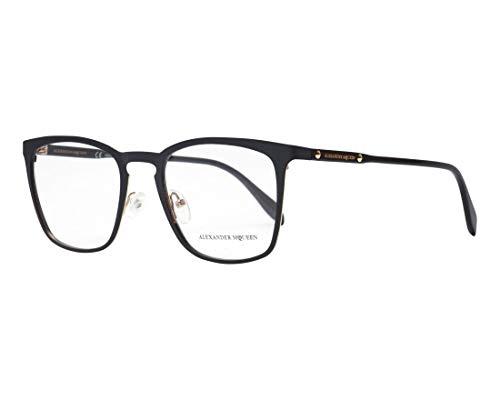 Alexander McQueen Brille (AM-0167-O 001) Metall - Acetate Kunststoff matt schwarz - glänzend schwarz - Alexander Mcqueen-brille