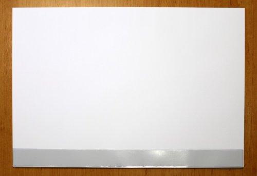 Schreibtischunterlage Papier mit Schutzleiste blanko weiß 30 Blatt 59,5 x 42 cm DIN A2 90g-Papier...