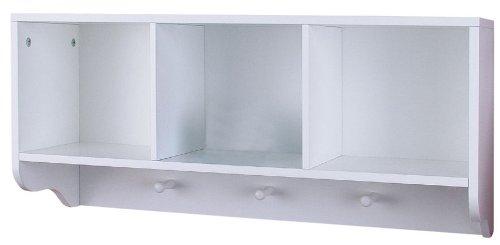 Badezimmer Wandregal mit Handtuchhalter - Farbe: weiß - Sauna Regal