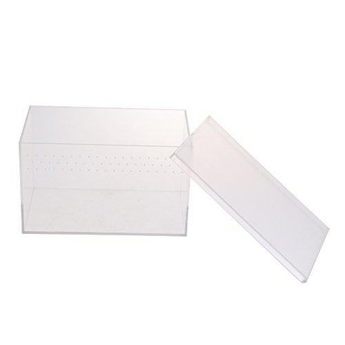perfk Transparent Fütterung Kasten Für Reptilien - Typ 1-20.5x12.5x12.5cm