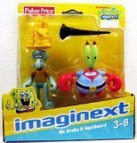 Imaginext, SpongeBob SquarePants, Mr. Krabs and Squidward Exclusive Action Figures by Imaginext (Spongebob Spielzeug Imaginext)