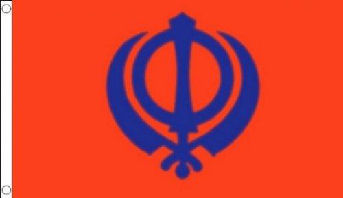 5ft x 3ft (150x 90cm) Sikh Sikhismus, Religion Religiöse 100% Polyester Material Flagge Banner Ideal für Club Schule Business Party Dekoration