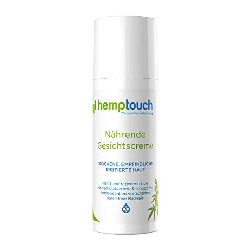 Hemptouch - biologische, nährende Hanf-Gesichts-Creme, nährende Formel für trockene, empfindliche, gereizte Haut. Formel mit Hanföl und dem Hanf, 50 ml -