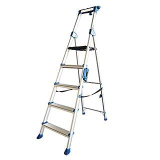 ALUMEXX UP 5-stufige Stufenstehleiter mit extra breiten Stufen Leiter