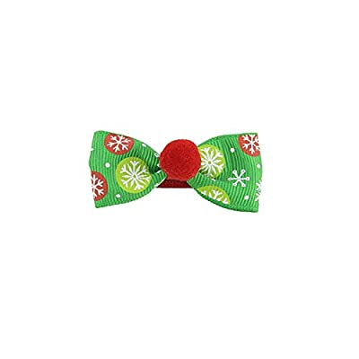 DAYSEVENTH Christmas Children's Bow Hairpin Hair Accessories Bag Waist Clip Xmas Gift Decorations