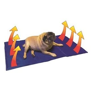 Kühlung Matte für Haustiere, 90cm x 50cm Gel gefüllt Matte für Hunde & Katzen