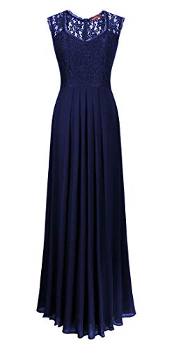 Romantic-Fashion Damen Abendkleid Cocktailkleid Lang Ballkleid Modell B621 Ornamente Applikationen...