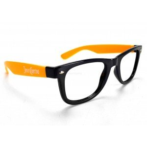 Jose Cuervo Nerd Party Wayfarer Brille orange schwarz ohne Linsen