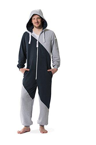Jumpster Jumpsuit Second Generation Damen Herren Unisex Overall Onesie Regular Fit Mashup Blue-Gray Blau-Grau M