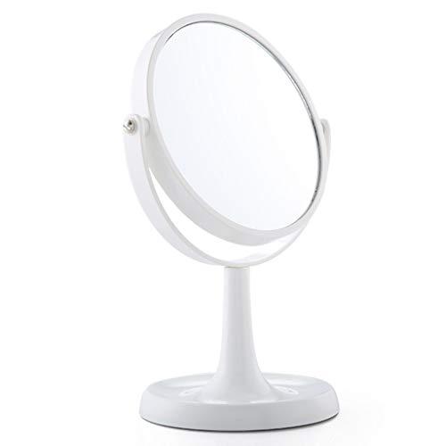 WUDHAO Make-up-Spiegel, 5-fache Vergrößerung, doppelseitig, um 360 Grad drehbar, 20,3 cm, rund 8 inches 5X -