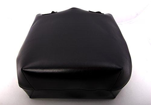 Borsa A Tracolla Lisa Xl Shopper / Borsa A Secchiello / Tracolla In Vera Pelle / Colore Scelta (nero) Nero