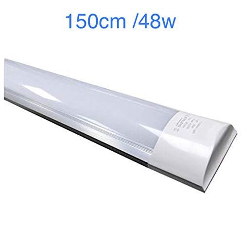 Led Atomant Pantalla LED Integrado 150cm, 48 W, Blanco Frio 6500K. Equivalente a 2 Tubos Fluorescente 52w. 4800 lumenes reales, 150