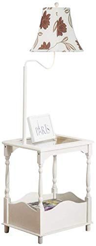 MY1MEY Standleuchte Home mall- Holz Stehlampe | Moderne Stehlampe mit kleinem Tisch | für Wohnzimmer Schlafzimmer Arbeitszimmer 48X38X140cm (Farbe : Color#4)